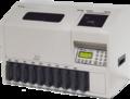 Счетчик-сортировщик монет Cassida CS-1000 с автоматическим механизмом подачи монет, со столом и с устройствами для крепления мешков